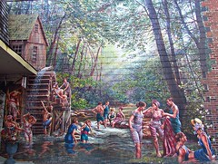 The Old Swimming Hole, Village of Murals, Village of Islington, Etobicoke, Toronto, ON (Snuffy) Tags: toronto ontario canada etobicoke eliteclub villageofislington villageofmurals