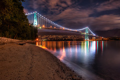 Lions Gate Bridge (todd landry photography) Tags: park bridge canada green vancouver photography nikon gate columbia stanley lions british todd hdr landry d700