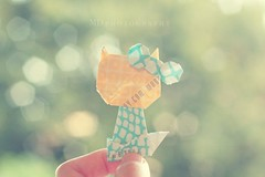 Day 229/366 - Hello Kitty 2 (MPhotography.) Tags: 50mm origami bokeh pastel hellokitty canon450d beyondbokeh