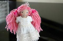 Princess Gigi in her church dress (Colorful Puppen) Tags: wool toys doll handmade 16 waldorfdoll dollclothes artyarn playscale luxfish