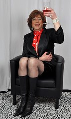 A quinquennium. (sabine57) Tags: drag tv boots cd crossdressing tgirl transgender tranny transvestite crossdresser crossdress stiefel transvestism