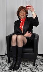 A quinquennium. (sabine57) Tags: drag tv boots cd crossdressing tgirl transgender tranny transvestite crossdresser crossdress stiefel transvestism