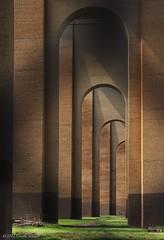 Hell Gate Arches (CVerwaal) Tags: nyc newyorkcity newyork architecture arches olympus amtrak hellgatebridge randallsisland olympusem5 lumixgvario1235f28