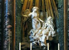 Bernini, Ecstasy of Saint Teresa (figures), Cornaro Chapel, Santa Maria della Vittoria
