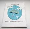 Under The Weather Get Well Soon Card (Crafty Mushroom) Tags: blue rain weather clouds umbrella aqua card getwell doodled craftymushroom