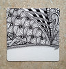south central (shebicycles) Tags: monochrome pen pencil tile square doodle ensemble zentangle