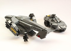 DARKWATER Vulture and ARV (Andreas) Tags: lego military vulture darkwater vtol gunship dropship thepurge thepurgedarkwater darkwaterdropship heavyvtol orbitaldropship
