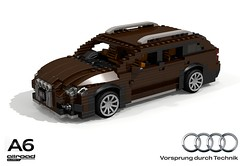 Audi A6 Allroad (C7 - 2012) (lego911) Tags: audi a6 allroad quattro 2012 2010 c7 auto car moc model miniland lego lego911 ldd render cad povray avant wagon awd 4x4 4wd german germany luxury lugnuts challenge 105 thegreatoutdoors great outdoors foitsop