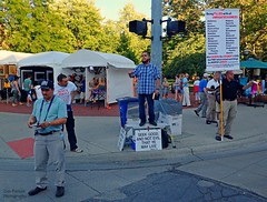 Preaching To The Crowd (FrogLuv) Tags: annarbormichigan summer aa a2 streetphotography candid 2016annarborartfairs jesus