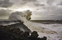 Porthcawl - August Storm (EVO GT) Tags: canon600d canon600deos canon sigma1750mmf28exdchsm porthcawl wales storm southwales coastal hightide harbour bigwaves sea