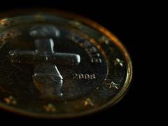 One Euro (Budoka Photography) Tags: macromondays macromonday stars star macro contaxsplanar60mmf28 zeiss creative indoor coin euro bokeh