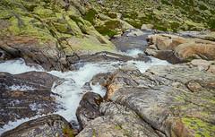 The 1st waterfall ((II) (Modesto Vega) Tags: sierradegredos lascincolagunas mountain waterfall snow rock rockformation grass glacialcirque sistemacentral nikon nikond600 d600 fullframe gargantadelpinar gorgeofelpinar catarata lagunadelaescoba