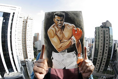 Ali Watercolor (adrianocarvalho) Tags: muhammad ali watercolor aquarela painting poster quadro cassiusclay clay boxe boxer sport olympic