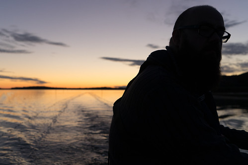 Fisher at sunsetz