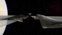 Daphnis  & Waves Along the Keeler Gap (Kevin M. Gill) Tags: saturn daphnis computergraphics space nasa ringsofsaturn keelergap