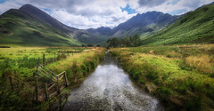 Buttermere (tony.wish) Tags: 1020 sigma nikon d5300 wideangle lakedistrict buttermere cumbria uk england landscape mountains nature stream fields countryside nationalpark