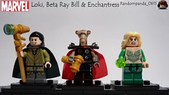 Loki, Beta Ray Bill & Enchantress (Random_Panda) Tags: lego fig figs figures figure minifig minifigs minifigure minifigures characters character marvel comics superhero superheroes hero heroes super comic book books loki beta ray bill thor enchantress