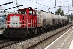 DBC 6511 te Zwijndrecht (erwin66101) Tags: ns dbc dbs deutsche bahn schenker cargo deutschebahn aluminium oxide aluminiumoxide vaten goederentrein goederen trein station zwijndrecht diesellocomotief diesel locomotief