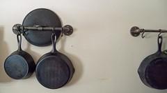 P1100795 (150hp) Tags: cast iron diy hanging rack black malleable pipe pan skillet panasonic lx3
