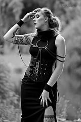 Didi Ou (AV art) Tags: didi ou finnish alternative model blue hair tattooed woman girl gothic style tattoo suomalainen alttimalli malli tatuoitu nainen gootti tyyli avart foto photo photography blackandwhite bw monochrome