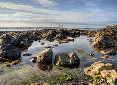 rocks in Braye Bay, Alderney (neilalderney123) Tags: 2016neilhoward alderney landscape olympus braye rocks water channelislands tallship