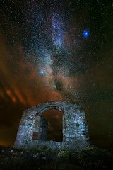 The Past (John Ormerod) Tags: past history ages galaxy universe milkyway stars night sky astrophotography church ruin building stdwynwens anglesey llanddwyn wales religion old landscape photography photograph photo image uk unitedkingdom nikon d800