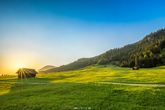 Buckelwiesen am Geroldsee (F!o) Tags: geroldsee krn garmisch alpen alps sunstar sonnenstern canon blendenstern buckelwiesen patenkirchen bayern bavaria mountains