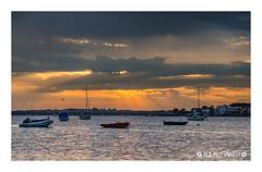 Mudeford Harbour Hide & Seek (Nick_Miles) Tags: nikon d7000 mudeford sunset clouds water sky 1870 christchurch landscape view boats dorset evening summer rain storm reflection colours