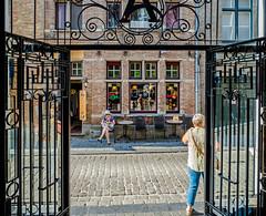 Distance from hotel to gthe nearest bar - 15 feet (Bruges) (Olympus OM-D EM5II & mZuiko 12mm f2 Prime) (1 of 1) (markdbaynham) Tags: belgium bruges brugge bruggen street urban metropolis westflanders city historic flemish olympus omd em5 em5ii csc mirrorless evil mft m43 m43rd micro43 micro43rd zuikolic mzuiko zd mz