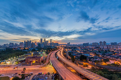 Sunset in KL (f1nr0d) Tags: nikon sigma sigma1020mm wideangle city cityscape kualalumpur kl sun sunset longexposure slowshutter hdr