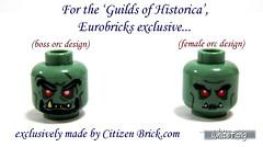 For the Guilds of Historica, Eurobricks exclusive (WhiteFang (Eurobricks)) Tags: boss brick female lego general battle sniper prints warriors archer citizen mage orc classes berserker customisation orcs eurobricks