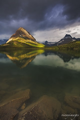 Many Moods (Vinnyimages) Tags: reflection clouds sunrise glacier glaciernationalpark earlylight canon1740l swiftcurrentlake manyglacier eastglacier canon5dmkiii wwwvinnyimagescom