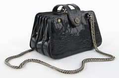 3017. Designer Alligator Skin Handbag