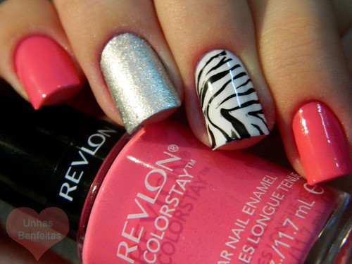 Zebra Nails :D