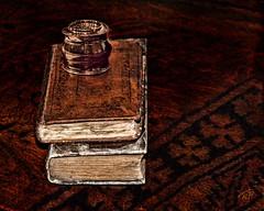 Books (Terry Pellmar) Tags: stilllife texture books ourtime greatphotographers artdigital awardtree magicunicornverybest magicunicornmasterpiece mygearandme