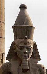 Temple of Luxor - 02 (MikePScott) Tags: camera monument statue buildings temple egypt luxor ecclesiastical builtenvironment luxortemple panasonicdmcfz30 featureslandmarks
