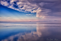 The Morning After (Charlotte Hamilton Gibb) Tags: ocean morning pink blue sea sky water clouds landscape unitedstates wa fridayharbor sanjuanisland digitalcameraclub charlottegibbphotography