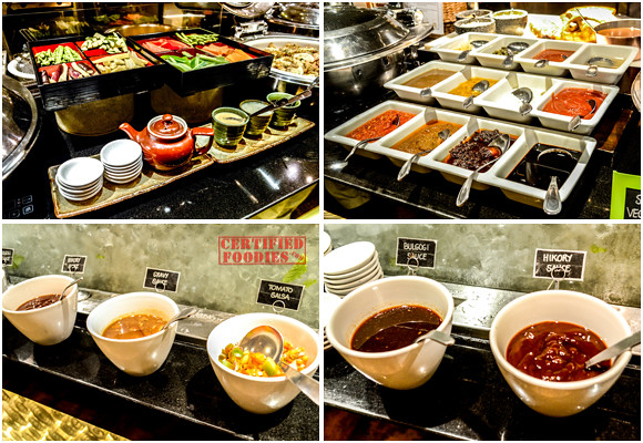 Sauces and condiments at Cafe Jeepney's buffet