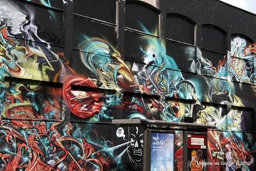 Graffiti by Ponk, Smug, Bonsai and Ghetto Farceur