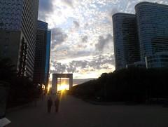 La Defense (Paris) at sunset