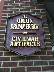 Civil War Artifacts store, Little Drummer Boy, Gettysburg PA (Aldene.Gordon) Tags: slavecollar civilwarartifactsstorelittledrummerboy
