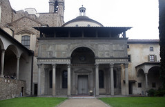 Exterior, Filippo Brunelleschi, Pazzi Chapel, Santa Croce, Florence