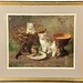 59. Victorian Chromolithograph of Kittens Brunille