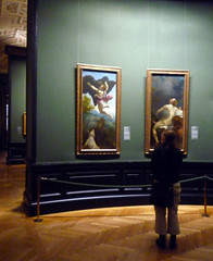 Beth looking at Correggio's work at the KHM