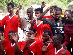 UNHCR News Story: Deafness is no obstacle for refugee team in Dadaab (UNHCR) Tags: africa camp news men sport football team kenya soccer refugees nairobi nike un tournament help aid u volleyball players care information protection handicapinternational assistance unhcr somalia ngo hornofafrica disability newsstory alivekicking refugeecamp righttoplay dadaab somalirefugees unrefugeeagency ifocamp unitednationshighcommissionerforrefugees elmandeaffc thekenyanfootballfederationofthedeaf thedadaabsportinitiative2012