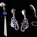 4071. Three Pairs Sterling Earrings