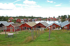 Skrs (Lnsmuseet Gvleborg) Tags: view sweden vy boathouse fishingvillage hlsingland skrs bthus dryingplace fiskelge gistvall