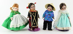 2033. Group of (4) Madame Alexander International Dolls