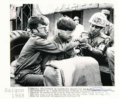 1968 Blindfolded North Vietnamese Prisoners Captured in Saigon (manhhai) Tags: 1968 saigon tetoffensive tếtmậuthân