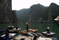 Floating Village at Ha Long Bay (VinayakH) Tags: sea bay floating villages unesco vietnam karst halong halongbay unescowhs floatingvillages limestonekarst